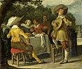 Een feestvierend gezelschap buitenshuis Rijksmuseum SK-A-1722.jpeg