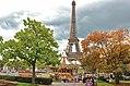 Eiffel Tower and Carrousel de la Tour Eiffel, 20 October 2013.jpg