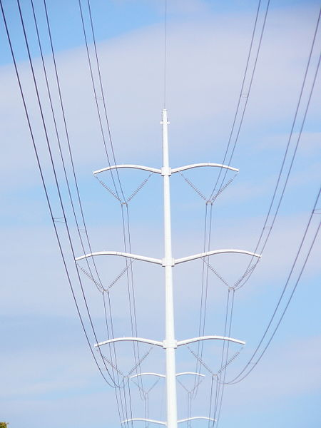 electricity - What are all the lines on a double circuit tower ...