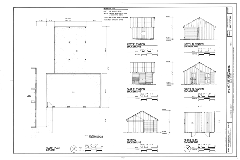 File Elevations Floor Plan And Section Of Smokehouse And