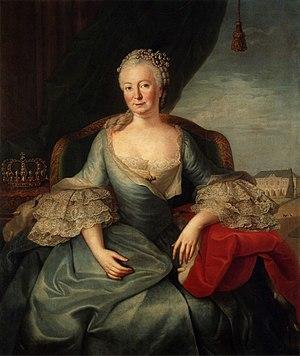 Schönhausen Palace - Queen Elisabeth Christine in front of Schönhausen Palace, 1764