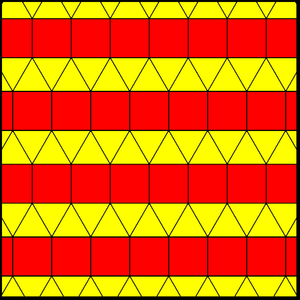 Elongated triangular tiling - Image: Elongated triangular tiling 1