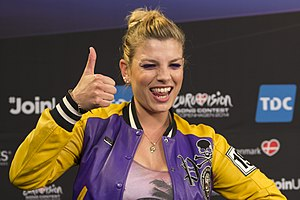 Italy in the Eurovision Song Contest - Image: Emma Marrone, ESC2014 Meet & Greet 12 (crop)