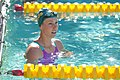 Emma McKeon looks for her time after winning 50m free (27599284736).jpg