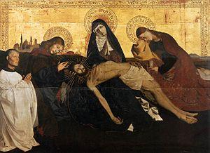А. Картон. Пьета. 1456—57 годы. Вильнёв-лез-Авиньон, Городской музей.