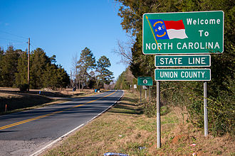Union County, North Carolina - Entering Union County on North Carolina Highway 200