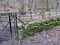 Entering Woodland - Gate and Signpost View - geograph.org.uk - 693404.jpg