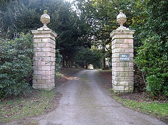 Biel, East Lothian - Image: Entrance pillars to Biel, East Lothian geograph.org.uk 140927