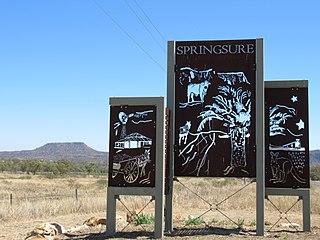 Springsure Town in Queensland, Australia
