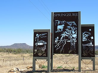 Springsure - Entrance sign, Springsure, Queensland