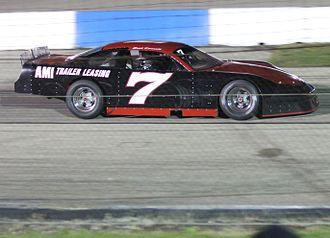 La Crosse Fairgrounds Speedway - Erik Darnell after winning the 2013 Dick Trickle 99