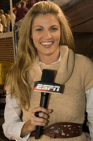 ESPN reporter Erin Andrews at the 2007 Georgia...
