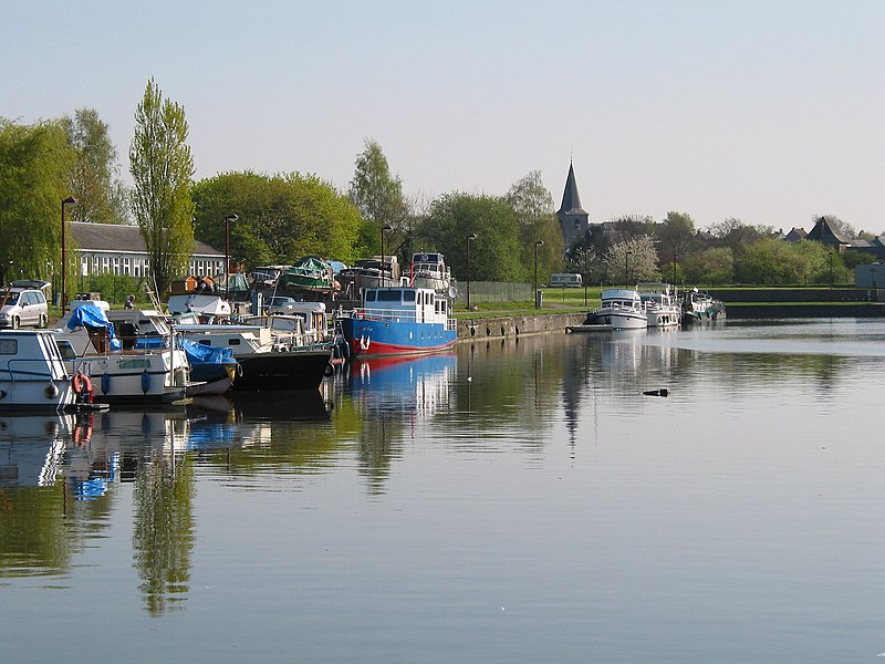Erquelinnes (Belgium), the marina.