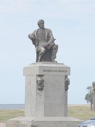 Juan Zorrilla de San Martín - Juan Zorrilla de San Martin Sculpture in Montevideo by his son José Luis Zorrilla de San Martín