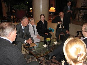 Estonian Argentines - Estonian Argentines with diplomats from Estonia.