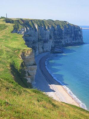 Côte d'Albâtre - Cliffs of the Côte d'Albâtre at Le Tilleul.