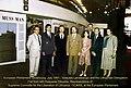 Europos Parlamentas Strasbūre, 1991 m. liepos mėn. sesija. Vytautas Landsbergis su delegacija iš Lietuvos. Kairėje VLIKo įgaliotinis prie EP ir ET Kasparas Dikšaitis (retouched).jpg