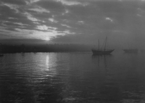 Evening atmosphere on the Shatt al-Arab - 1958.png