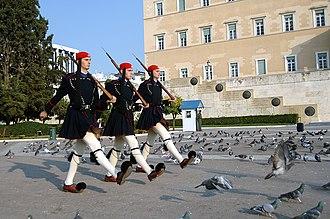 Presidential Guard (Greece) - Evzones with the winter everyday ceremonial uniform