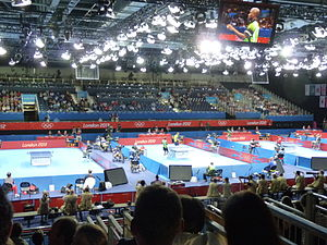 ExCeL London - ExCeL London hosting table tennis events at the 2012 Summer Olympics.