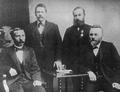 Fýra av sambandsmonnunum, sum vórðu valdir í 1906.png