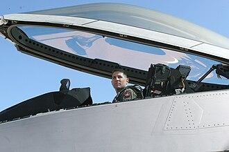 Polycarbonate - Lockheed Martin F-22 cockpit canopy