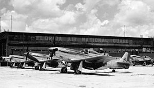 159th Fighter Squadron - North American F-51D Mustang fighters of the 159th Fighter Squadron, Imeson Airport, Jacksonville, Florida, circa 1947.