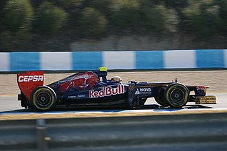 Jean-Éric Vergne - Vergne during pre-season testing, for Toro Rosso, at Jerez in February 2012.
