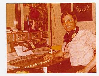 National Iranian Radio and Television - Frank Carpenter in the NIRT International Radio studio (1977)