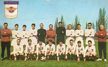 Rapid Bucuresti team in the 1966-67 season, in which they won their first national title. FC Rapid Bucuresti - group photo 1966-67.jpg