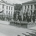 FHM-288562 WW2 Norway Nazi Parade Quisling Jonas Lie Rediess Nazi officers Germanske SS Norge Frølich Hanssen etc Universitetsplassen Oslo Parademarsjen SS-dagen 1943-08 Frihedsmuseets fotoarkiv Denmark No known right.jpg