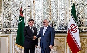 Raşit Meredow - Image: FM Javad Zarif meets Turkmen Deputy PM Rashid Meredov 03