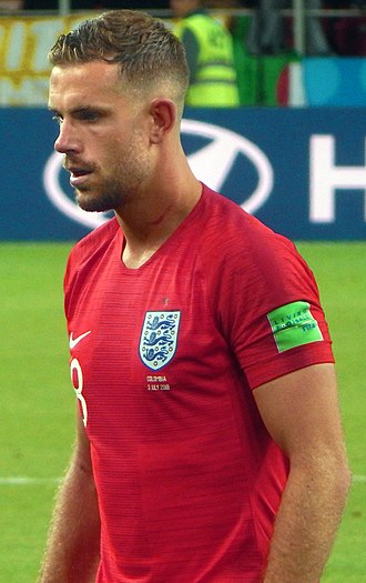 Jordan Henderson - Henderson playing for England at the 2018 FIFA World Cup