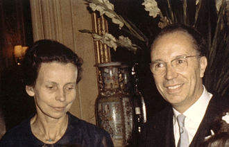 Pierre Jacquinot - Pierre Jacquinot and his wife in 1965