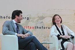 Fabrice Pothier and Alison Redford 2012 Halifax Forum.jpg