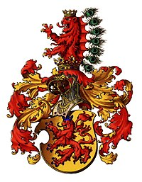 The ancient coat of arms of the Counts of Habsburg.