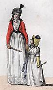 Moda feminina do século XVIII.