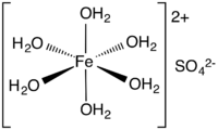 Skeletal formula of iron(II) sulfate