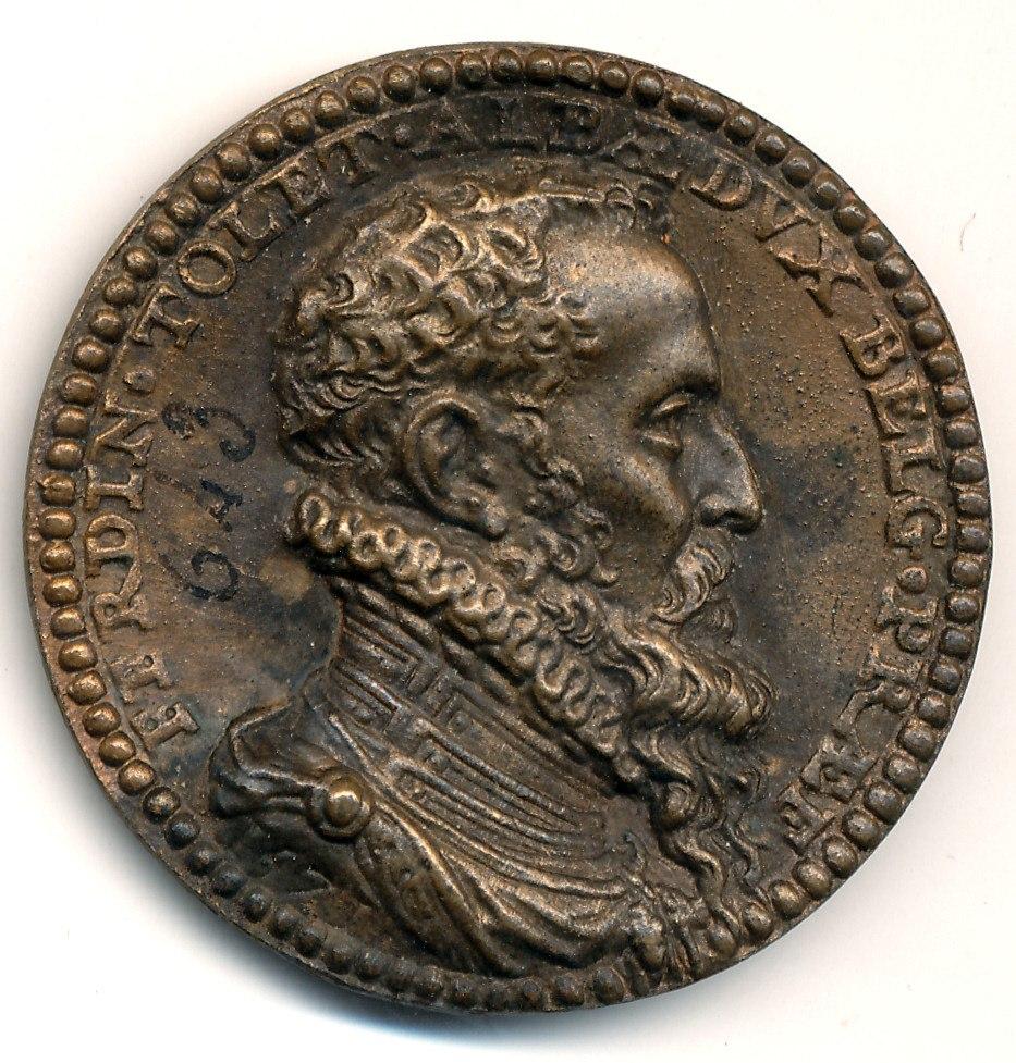 Ferdinand Alvare de Tolède, médaille Avers