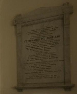 Ferdinando Pio Rosellini - Memorial in Istituto Leardi (Casale Monferrato)