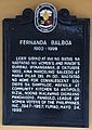 Fernanda Balboa historical marker (cropped).jpg