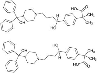 Struktur von Fexofenadin