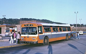 Flxible New Look bus - A Flxible New Look in service for Tri-Met in   Portland, Oregon, in 1985