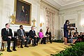 """First Lady Michelle Obama delivers remarks during the """"42"""" film workshop in the State Dining Room of the White House, April 2, 2013.jpg"""