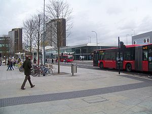 West London Tram - Shepherd's Bush bus station, originally intended as the eastern tram terminus