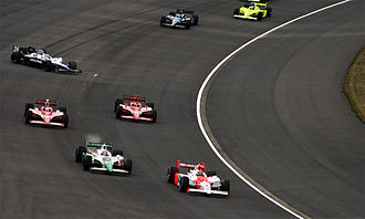 Ed Carpenter (racing driver) - Carpenter (last car in picture) competing in the 2008 Indy Japan 300 at Twin Ring Motegi.