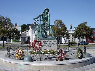 National Register of Historic Places listings in Essex County, Massachusetts - Image: Fisherman Memorial Gloucester