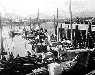 Petersburg, Alaska - Fishing boats in the harbor at Petersburg