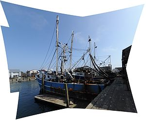 Fishing boats on Woodcleft Canal pano 01.jpg