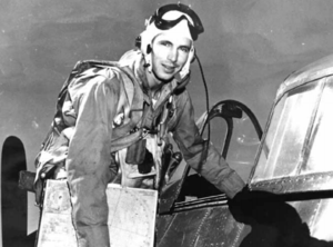 Patrick D. Fleming - Fleming in 1945 getting ready to take to the skies